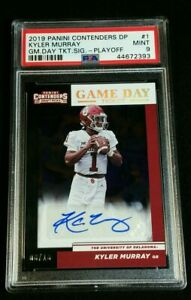 PSA 9 1/1 KYLER MURRAY RC AUTO /18 *GAME DAY ROOKIE *SSP PLAYOFF 2019 Contenders