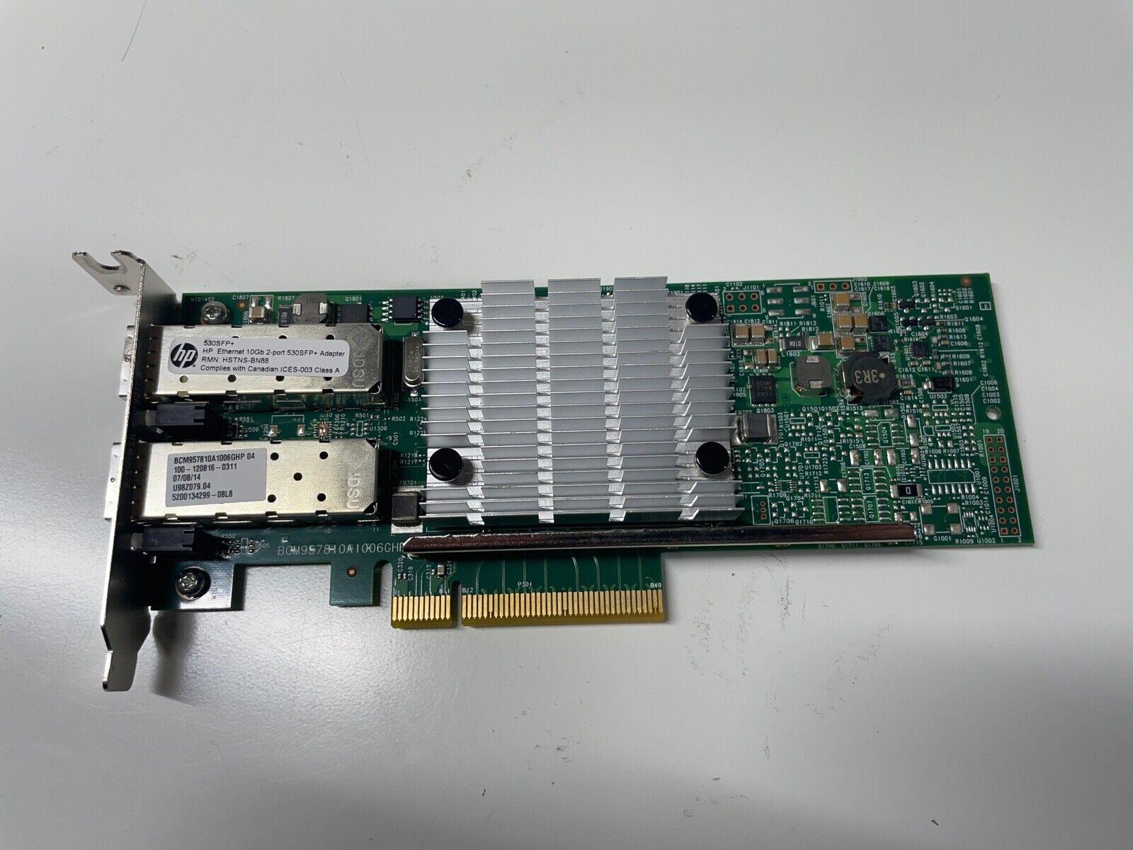HP 656244-001 Ethernet 10Gb Dual Port 530SFP+ PCIe Adapter Card Full Profile