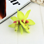 10 Colores Reino Unido Vendedor Nuevo Hermoso Orquídea Flor Cabello Clip Doble