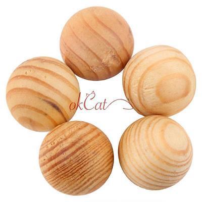 50Pcs Fragrant Moth Balls Cedar Wood Protection Camphor Control Preferential