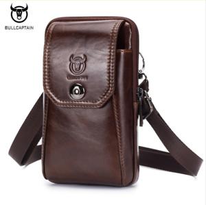 3060fbfa57 BULLCAPTAIN Leather Men Shoulder Bag Small Men Bag Vintage Casual ...