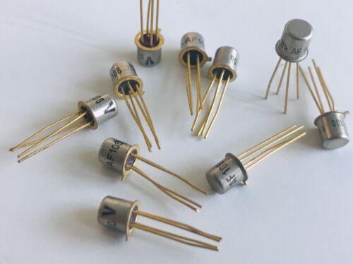 5x AF106 PNP Germanium Transistor vergoldet NFVHFNOSTelefunken