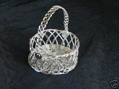 Small Silver Wire Basket  Candy Shower Party Favor