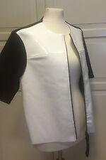 Original Marni Jacke Lederjacke weißes Lackleder EUR Größe 38 size US 8 UK 12