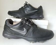 NIKE 628533 001 AIR RIVAL III GOLF SHOES CLEATS BLACK/WHITE Men's Size 10 EUR 44