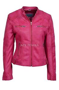 Motorcycle Leather Ladies Cool Style Jacket 8322 Biker Fuchsia Fashion Speed PUqwO7Yq