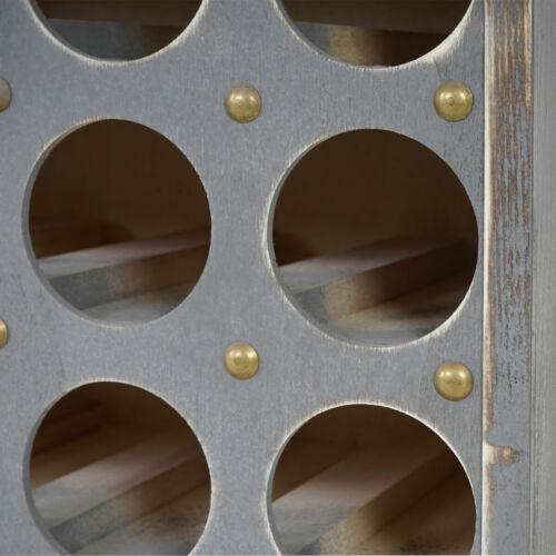 Weinregal Torre T323 Shabby-Look Flaschenregal Regal 94x48x31cm Vintage grau