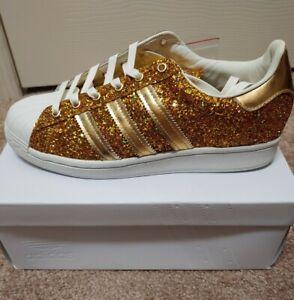 ADIDAS SUPERSTAR 24k Gold Glitter Women