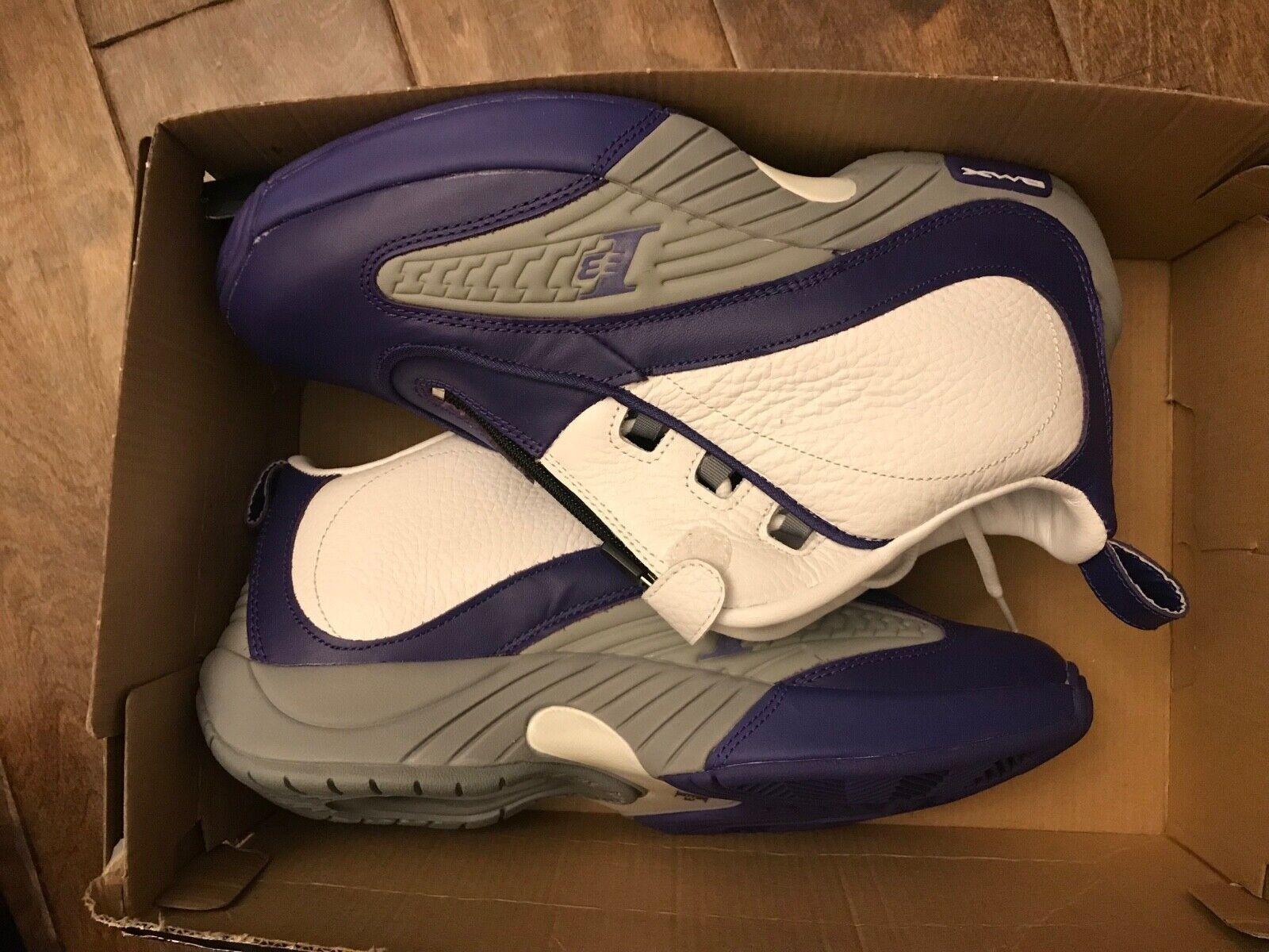 Reebok Answer 4 IV DMX sautope sz 10 tuttien Iverson AI viola bianca Kobe Lakers Sautope classeiche da uomo