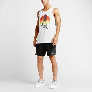 sprzedawca detaliczny trampki jakość Details about Nike Skelton Men's Running Tank Top White Polyester Cotton