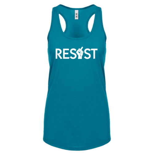 Womens Resist Finger Racerback Tank Top #3163