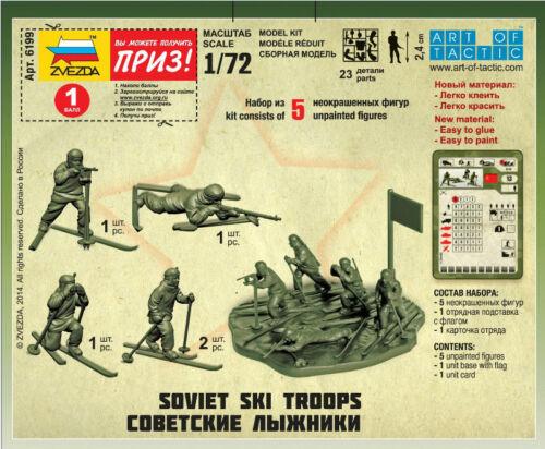 Zvezda #6199-1:72   Soviet Ski Troops WW II