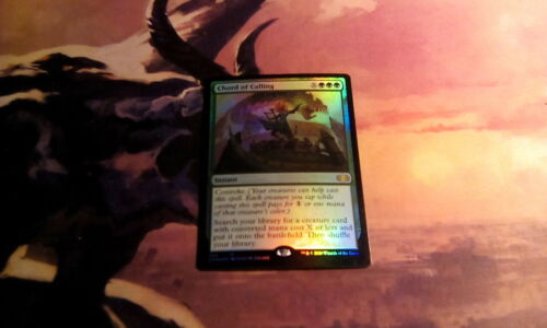 MTG Chord of Calling Foil x1  Launch PArty and Release Event Promo Free Shipping