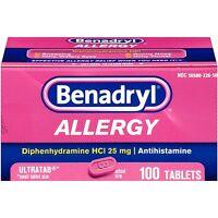 Benadryl Allergy 25 Mg Ultratab 100 Tablets