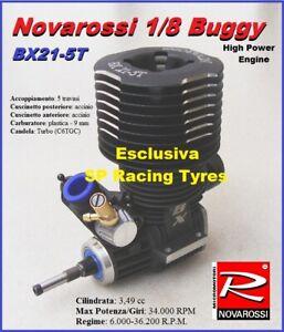Motore Novarossi Moteur 1/8 Buggy 5 Ports Luci 34.000 tours / min .21 Bx21-5t