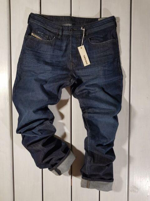 New Men/'s Diesel Buster Jeans 0840L Regular Slim Tapered Blue Wash Denim 20LM