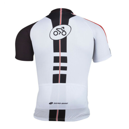 Herren Radfahren Radtrikot Shirt Fahrradtrikot /& Radhosen Kurzarm Shorts Weiß