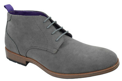 men's shoe semi formal lace up half boots oxfords high top