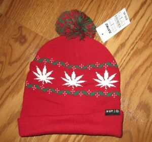d5f60cf7b6e Image is loading NEW-WITH-TAGS-ZUMIEZ-HUF-RED-WINTER-HAT-