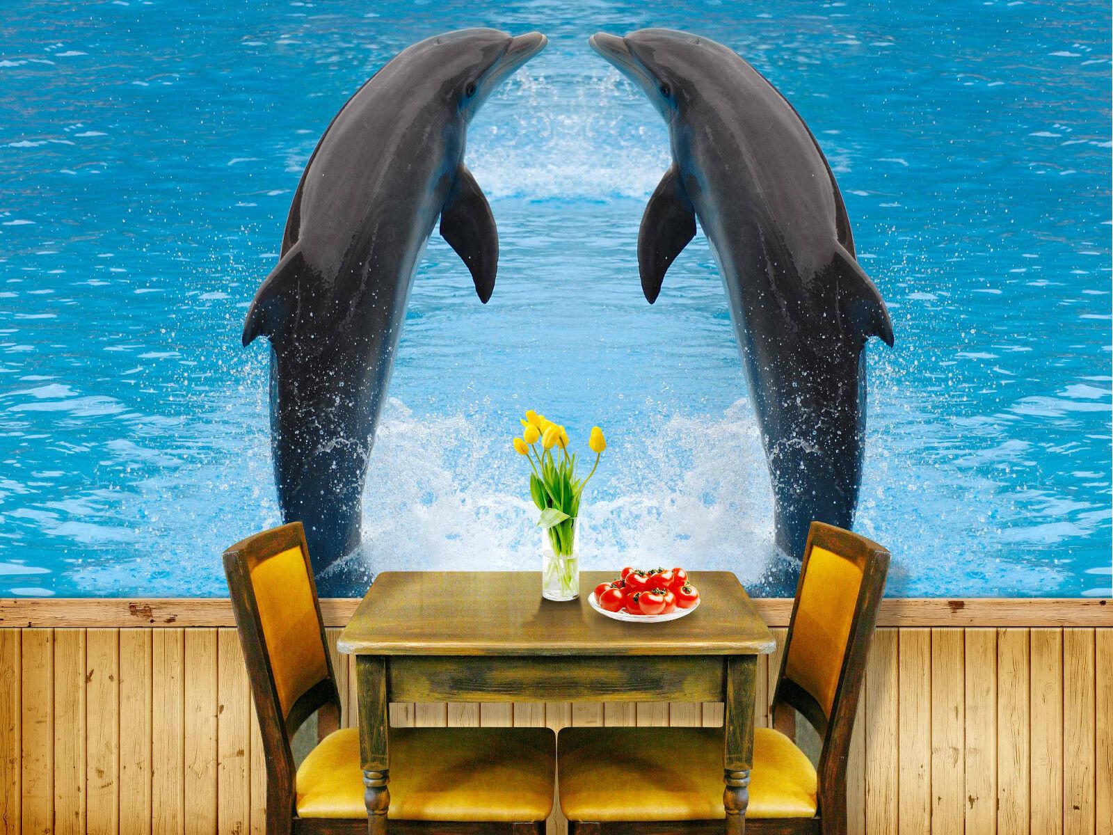 3D Küssen, die delFine 259 Fototapeten Wandbild Fototapete BildTapete Familie DE