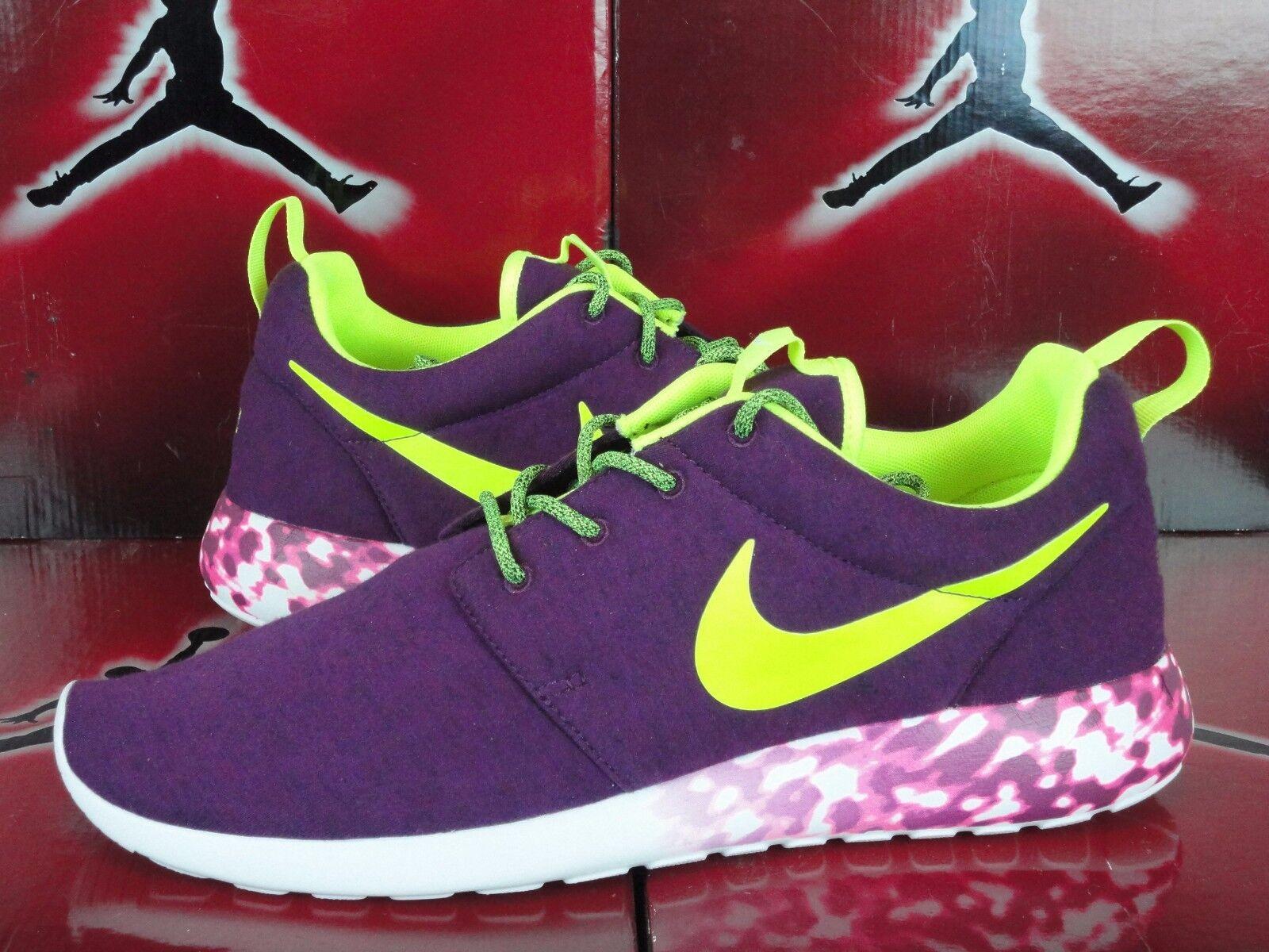 Nike Roshe Run Tech Fleece Purple White Black Rosherun SZ 11 NikeiD ID 1
