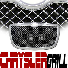 Chrome Bentley Mesh Front Grill Grille Kit Replacement 04/05+ Chrysler 300 300C