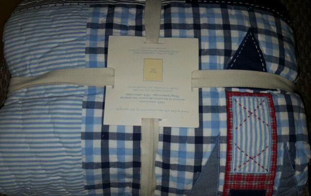 New Pottery Barn Kids Stars And Rockets Twin Quilt Euro