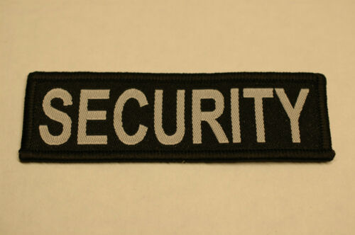 10cm x 3cm No 157 Stab Vest, Jumper Woven Security Sew on Patch for Shirt