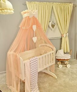 Image is loading 10p-Crib-Bedding-Set-to-fit-Crib-Cradle- : swinging crib with canopy - memphite.com