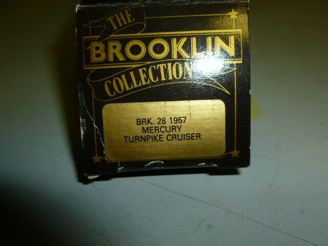 Die cast 1 43 Brooklin Models 1 43 Scale BRK28  - 1957 mercury turnpike cruiser