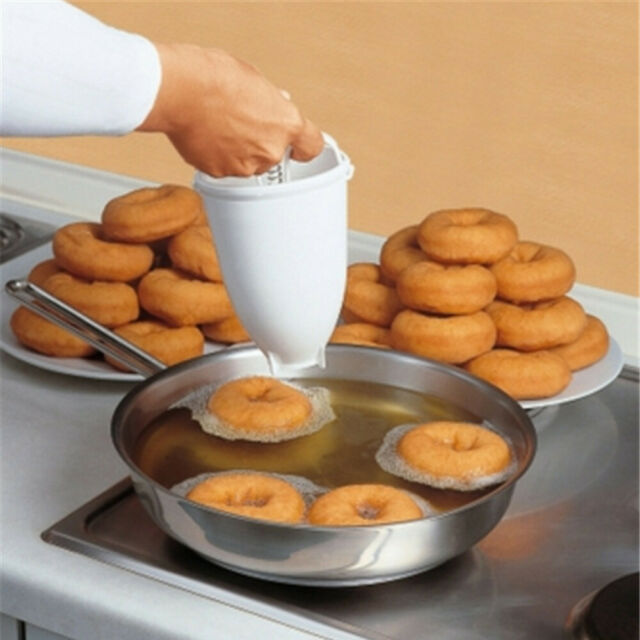 Plastic Doughnut Maker Machine Mold DIY Tool Kitchen Pastry Making Bake Ware