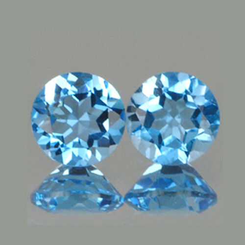 4mm Lot 2,3,6,10,20,50,100pcs Round Cut Natural Swiss Blue TOPAZ