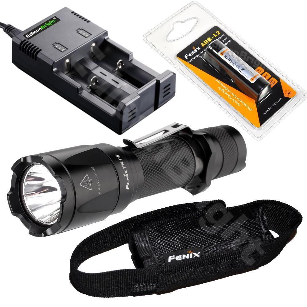 Fenix TK16 CREE LED 1000 lumen flashlight w18650 Liion Batterycharger
