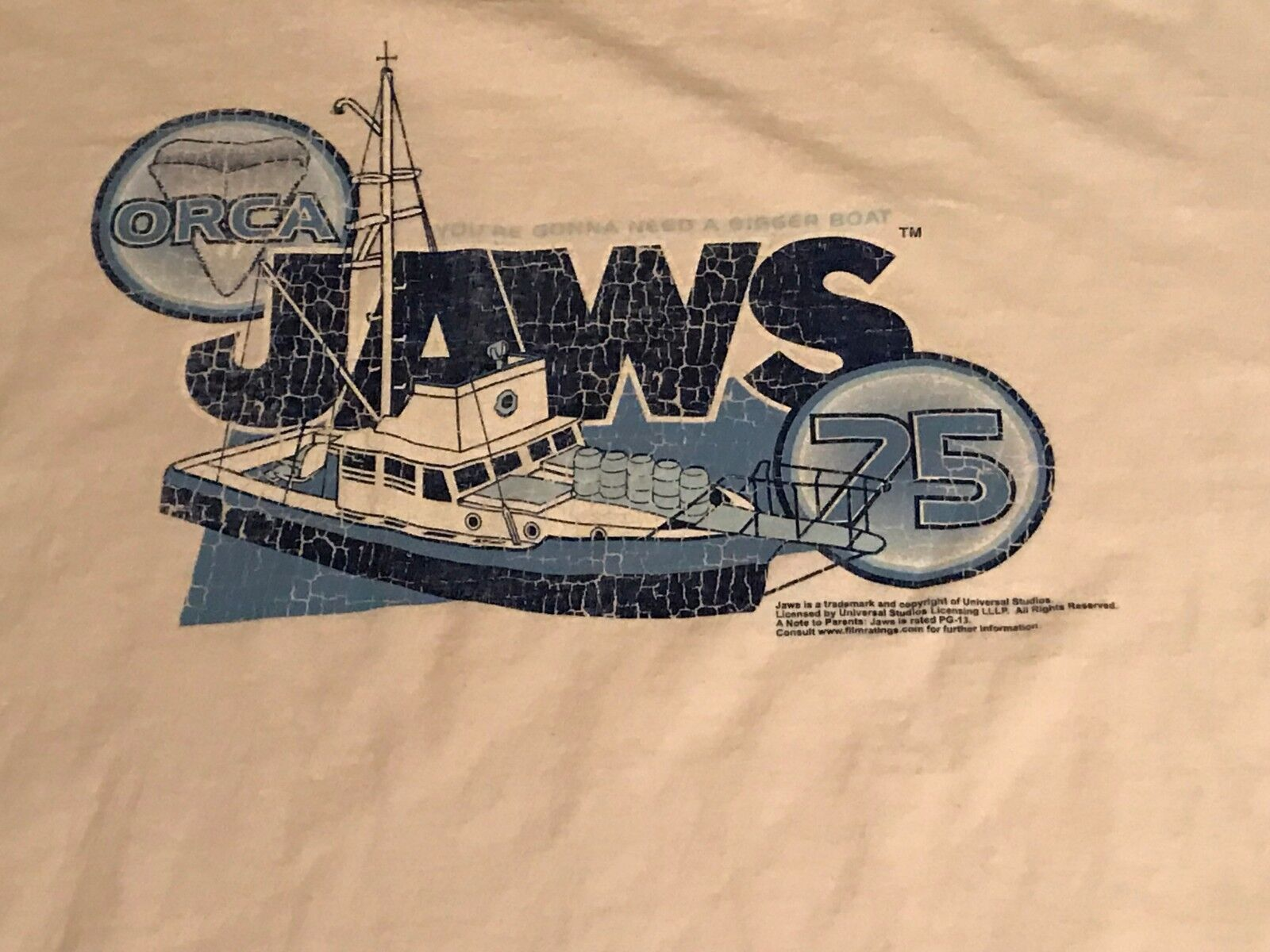Jaws Orca You're gonna need a Bigger Boat Retro Style Shirt Size XL