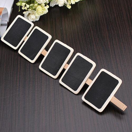10 X mini tableau noir ardoise Bureau étiquettes porte-étiquette HQ