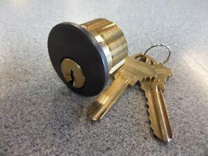 General Lock Rim Cylinder Schlage C Keyway Rubbed Bronze EZ#256792