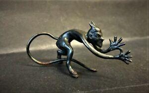 Vintage-Satan-Evil-Devil-Fiend-Halloween-Imp-Figure-Demon-Metal-Statue