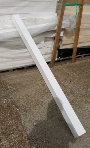 """Pack of 4 White UPVC Post Sleeve 102mm x 102mm 1.9m or cut to size. 4×4/"""""""