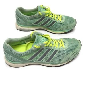 Details about Adidas Adizero Adios Boost 2 Women Green Athletic Shoes Size  9 GJ