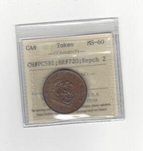 Prov-Canada-Half-Penny-Token-Breton-720-CH-PC5B1-ICCS-Graded-MS-60-Rep-2