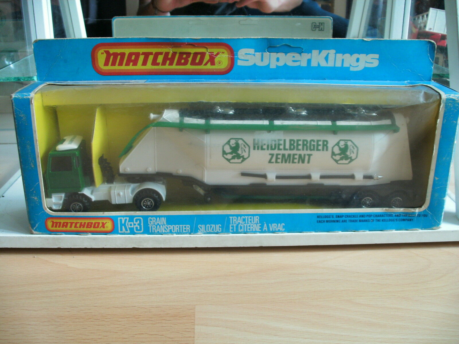 Matchbox Super Kings Grain Transporter  Heidelberger Zement  in White Green Box