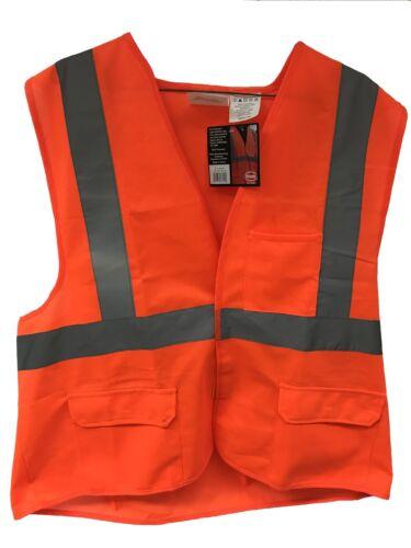 Orange Safety Vest Class 2 ANSI ISEA Construction High Visibility L XL 2XL