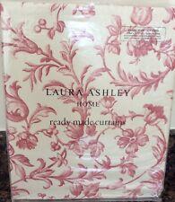 "Laura Ashley Ironwork Scroll Curtains in Cranberry 64"" x 72"" / 162cm x 183cm NEW"
