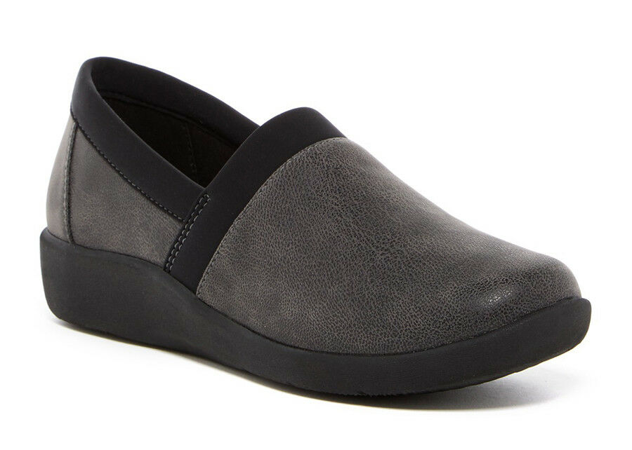 New Clarks Cloudsteppers Collection SILLIAN BLAIR Leather Women Shoes Sz.7W