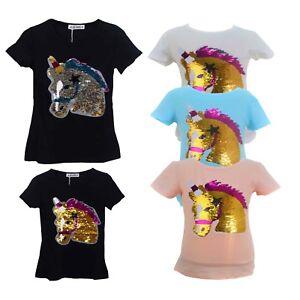 dd7b7c6ca Image is loading Girls-Kids-Sequin-Reversible-Unicorn -Brush-Changing-Sequins-