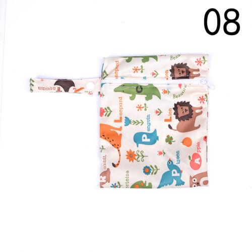 Baby Infant Waterproof Reusable Zip Wet Dry Bag Diaper Nappy Pouch Pocket Bag SE