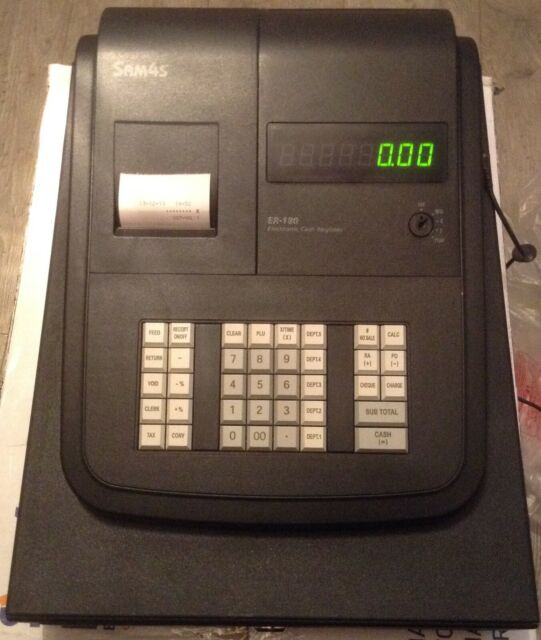 CHEAP EASY TO USE CASIO CASH REGISTER SHOP TILL /& FREE SPARES