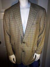Ying Tai Hong Kong Custom 48L Tan Plaid Ing Loro Piana Cashmere Blazer Jacket