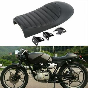 Image Is Loading Universal Black Hump Cafe Racer Seat Saddle For