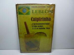 PA57F-PLAQUES-TOLEE-vintage-20-X-30-cm-Cocktail-CAIPIRINHA-Bresil